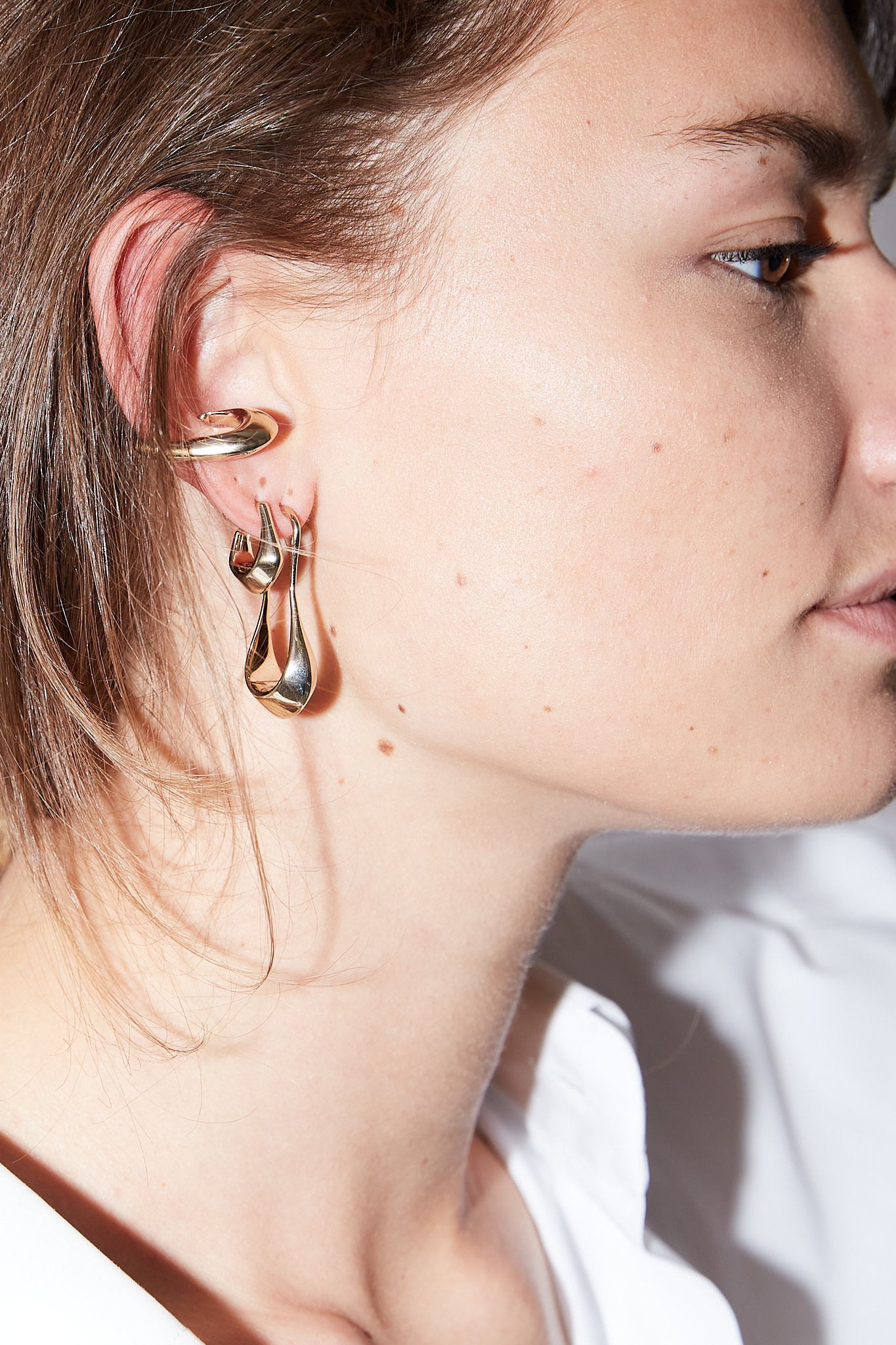 Lemaire - Short drop earrings