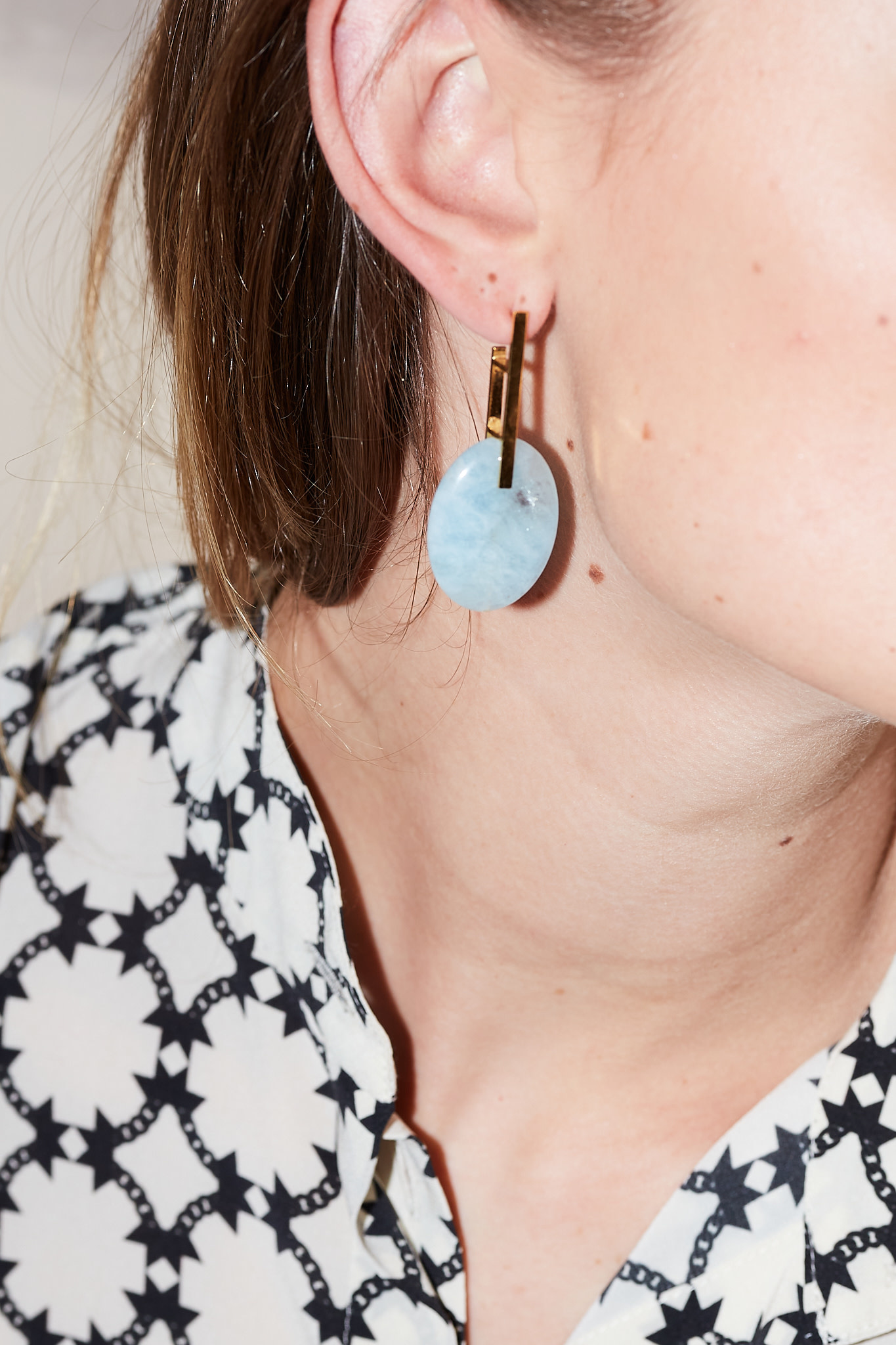 Studio Collect - Minimal Aquamarine Statement Earrings