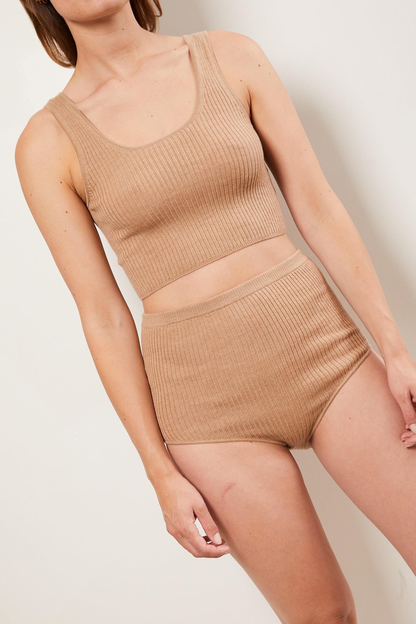 loulou studio - Montague cashmere cropped top