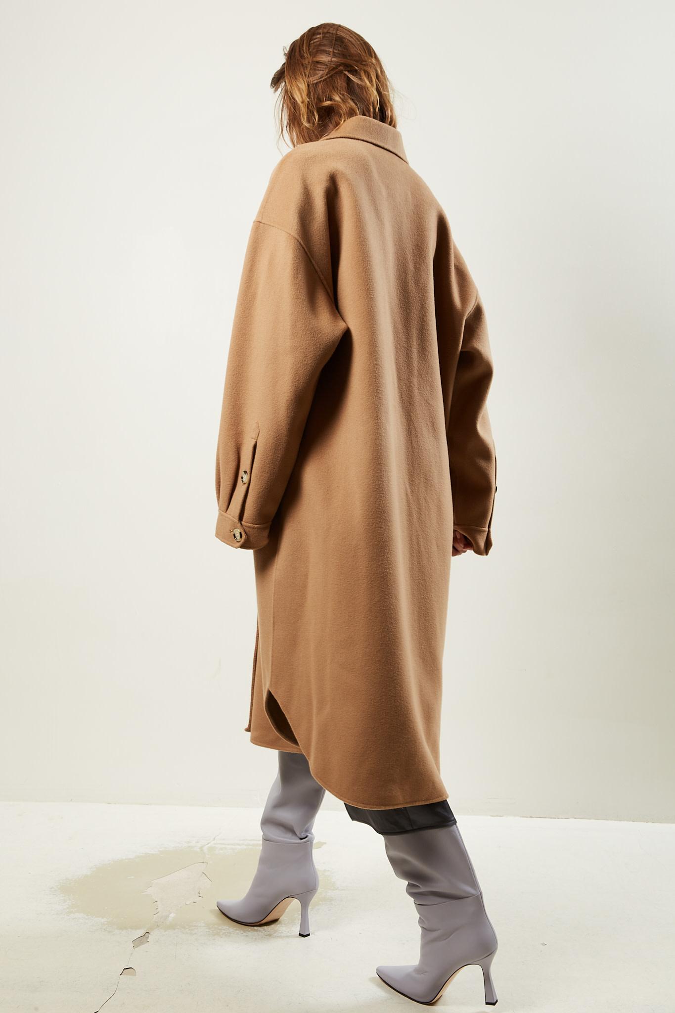 Nanushka - Cruza wool silk coat