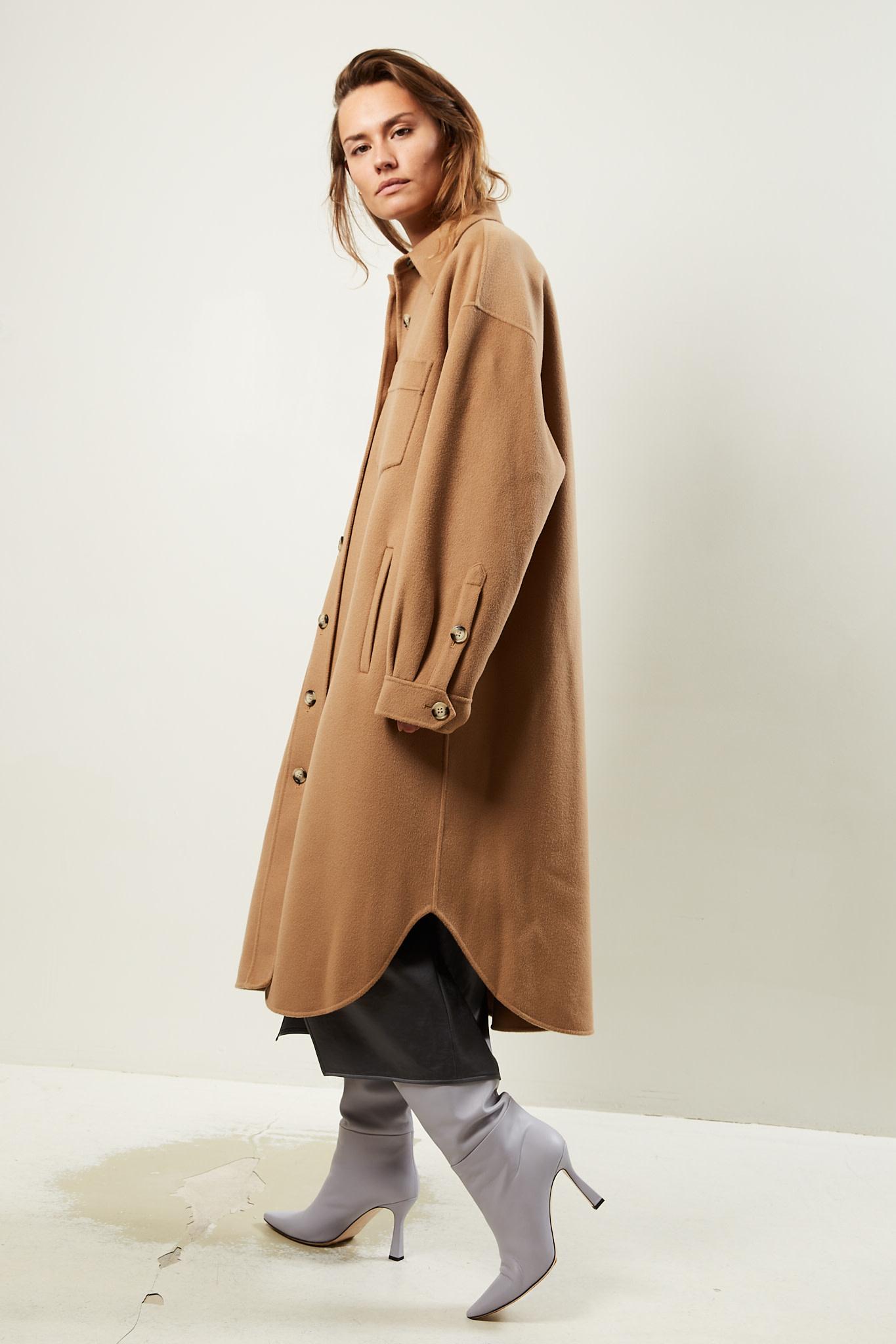 Nanushka Cruza wool silk coat