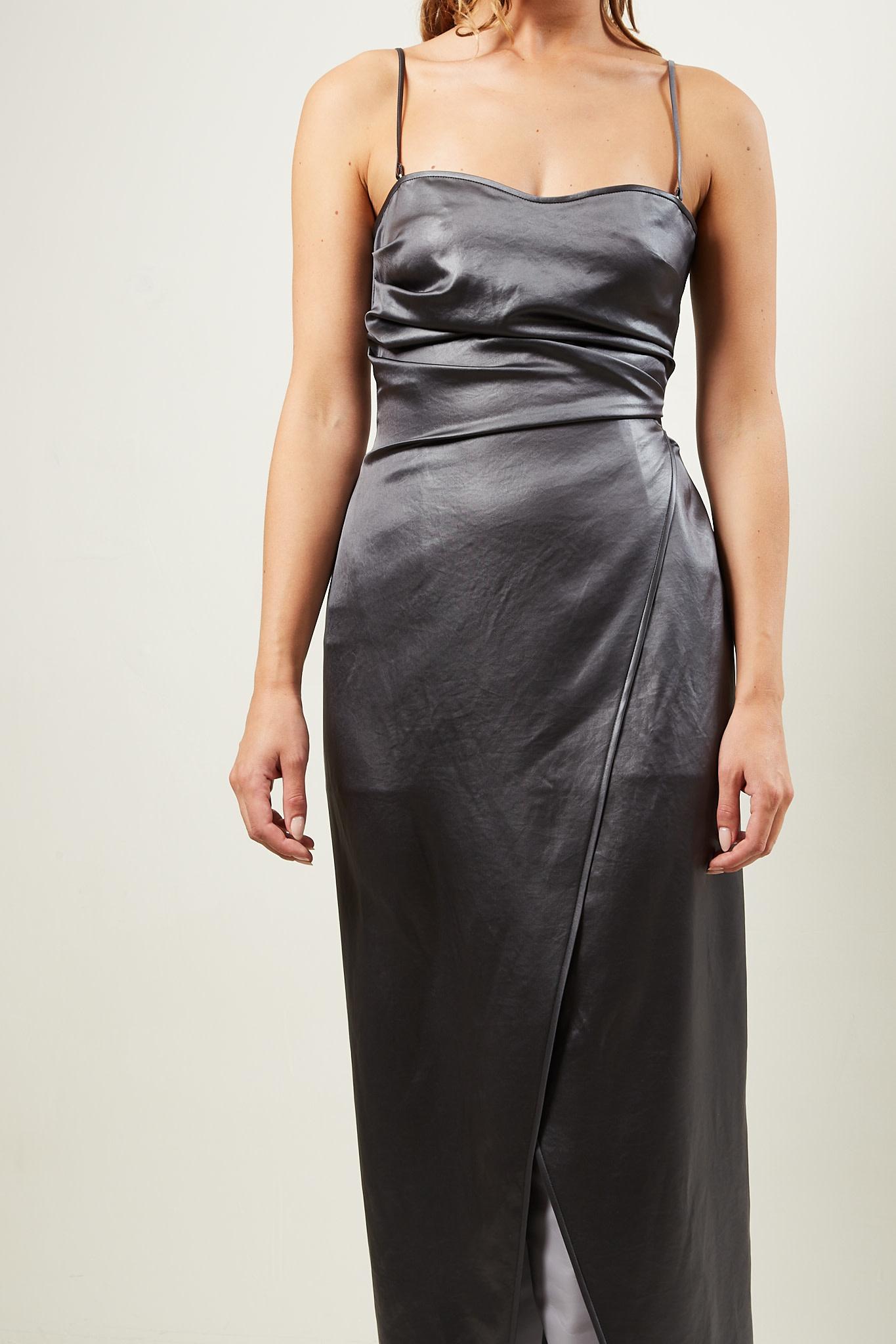 Nanushka - Kamari glossy satin dress