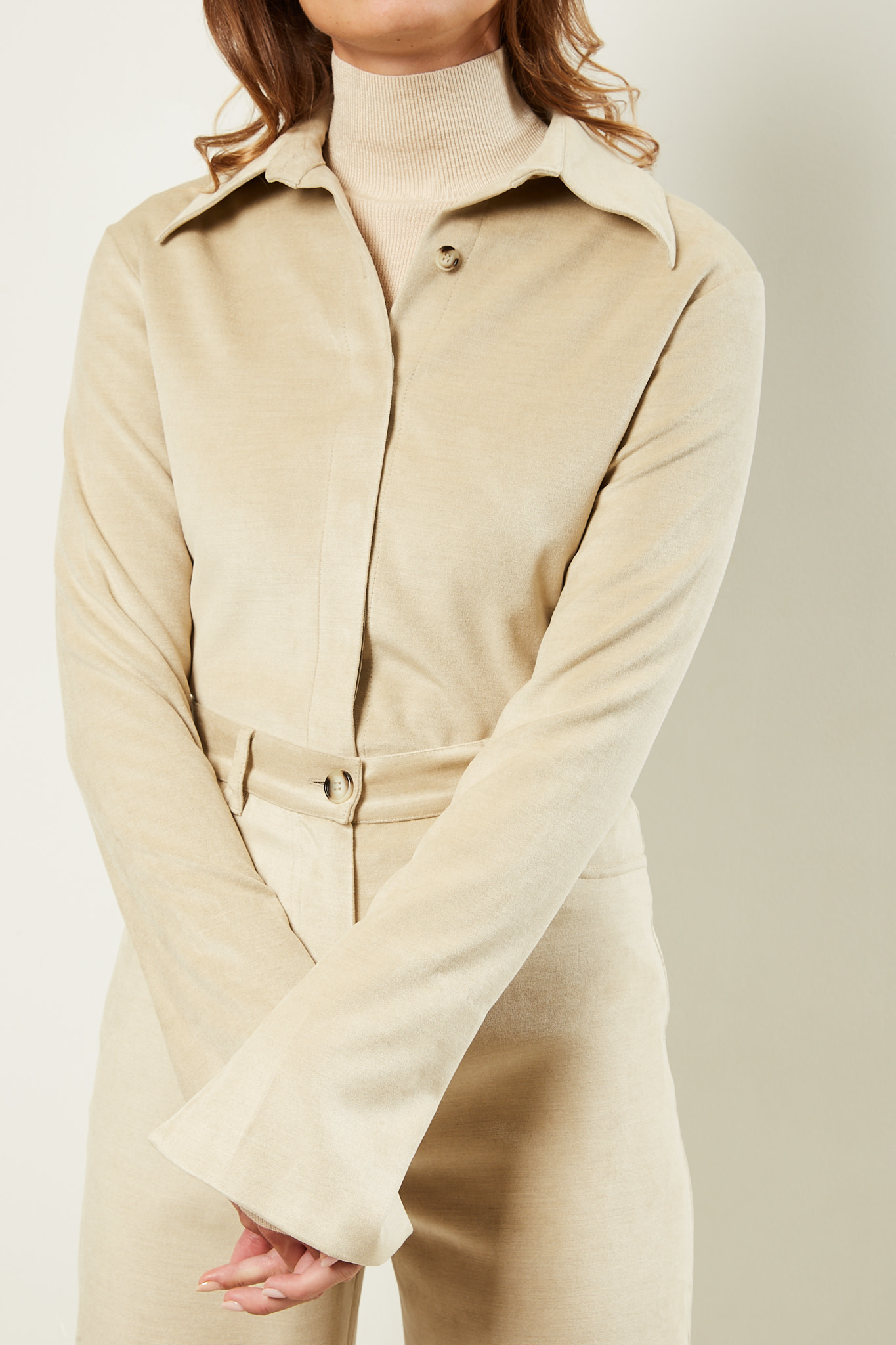 Nanushka Shada stretch velvet top