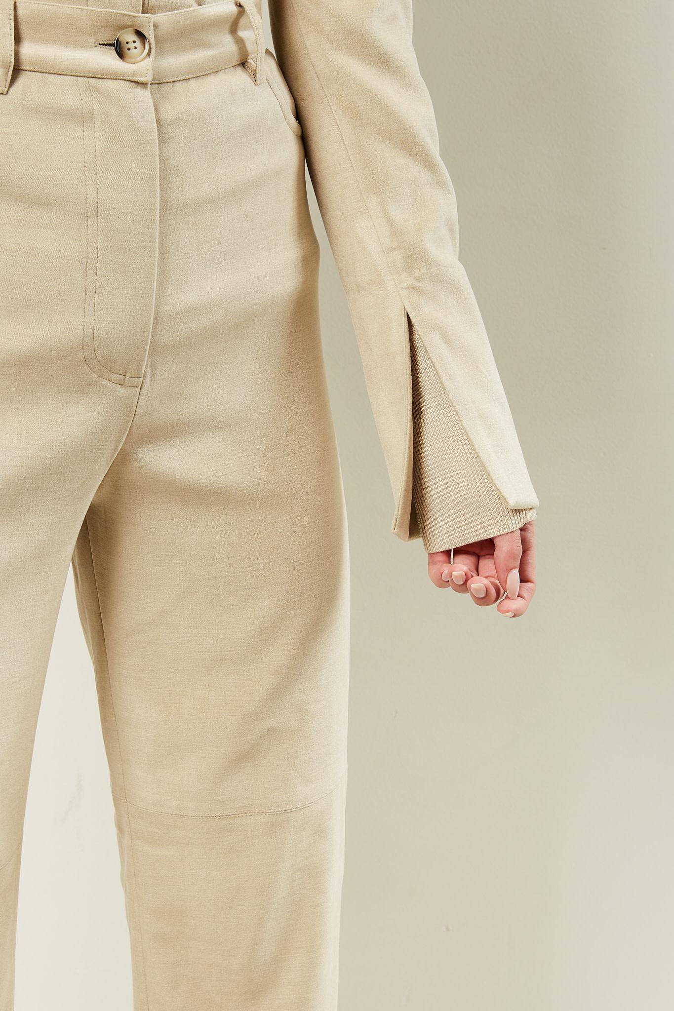 Nanushka - Shada stretch velvet top