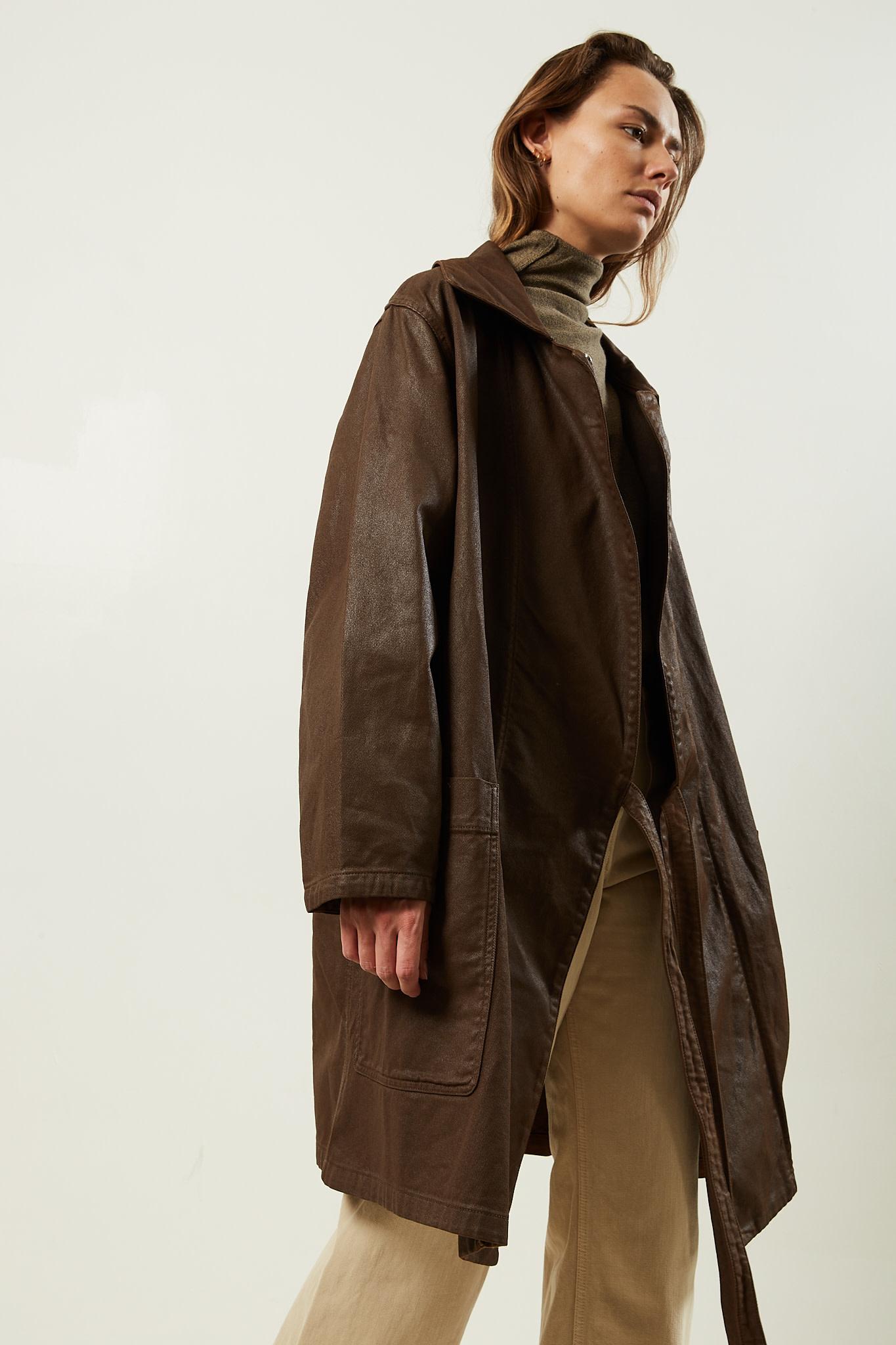 Lemaire Coated denim aymetrical coat