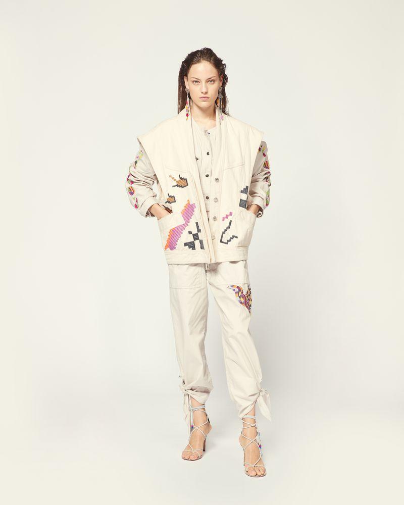<strong>ISABEL MARANT</strong>Embroidered sleeveless Erilane Jacket