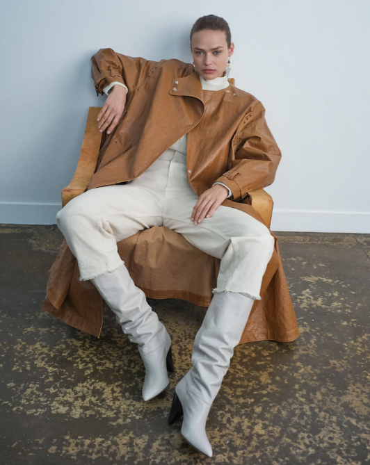 <strong>ISABEL MARANT</strong>corly coated trench coat