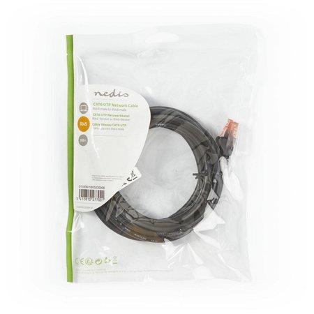 CAT6 UTP-Netwerkkabel/RJ45 3m Zwart