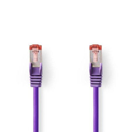 CAT6 S/FTP-netwerkkabel/RJ45 1.5m Paars