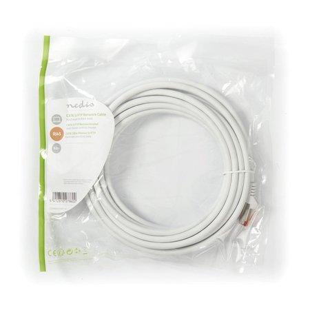 CAT6 S/FTP-netwerkkabel/RJ45 5m Wit