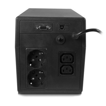 UPS 1000VA LCD, RS232 & USB, 2 x CEE7/3 port & 2 x C