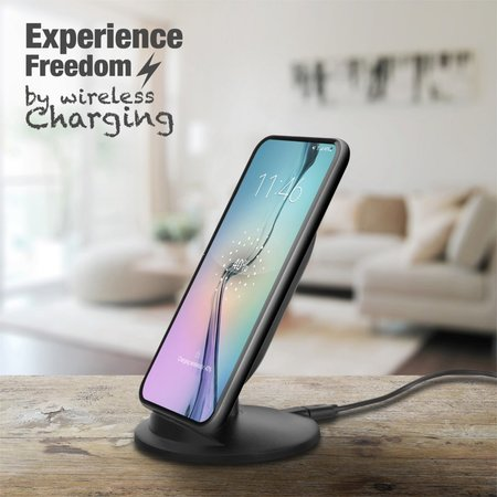 Universal fast wireless charging stand for smartphone