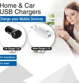 15 x USB Home charger EW1264 and 15 x USB Car Charger