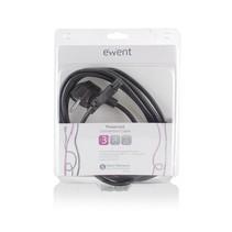 EW9180 electriciteitssnoer Zwart 3 m CEE7/7 C5 stekker