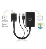 Converter VGA male - HDMI female with audio, USB power