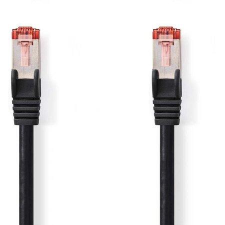 CAT6 S/FTP-netwerkkabel/RJ45 1.5m Zwart