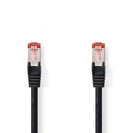 CAT6 S/FTP-netwerkkabel/RJ45 5m Zwart
