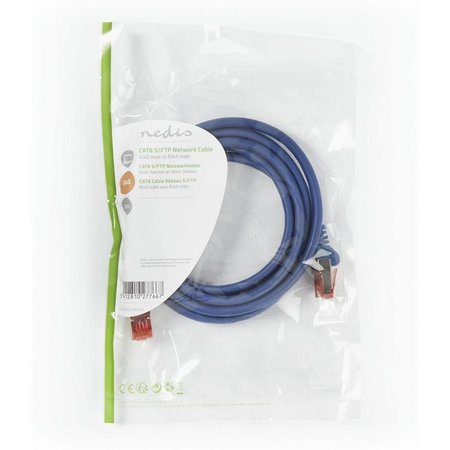CAT6 S/FTP-netwerkkabel/RJ45 2m Blauw
