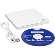 Opti DVD±RW Hitachi- Writer 24speed USB Extern White Slim (14mm )