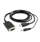 Gembird HDMI naar VGA kabel met audio, 1.8 meter