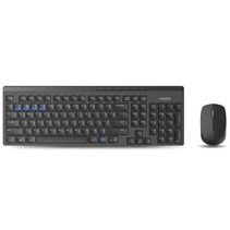 8100M Wireless Keyboard + Mouse Desktopset - Black (refurbished)