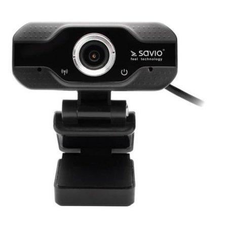 Savio CAK-01 Webcam F-HD USB Zwart