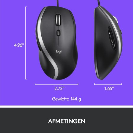 Logitech Advanced Corded Mouse M500s