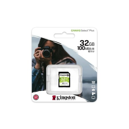 Kingston SDHC Card 32GB  UHS-I Canvas Select Plus