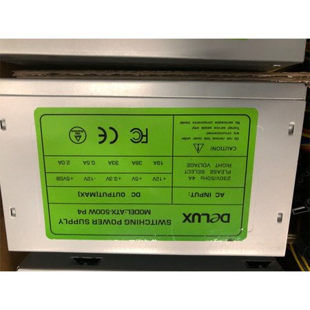 DELUXE PSU 500WATT / 80MM FAN / 12 PIECES BOX