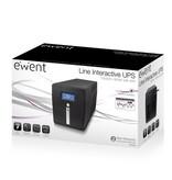 UPS 1000VA LCD, RS232 & USB, 2 x CEE7/3 port & 2 x C13