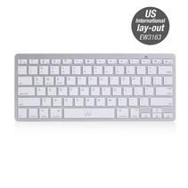 EW3163 toetsenbord Bluetooth QWERTY US International Zilver, Wit