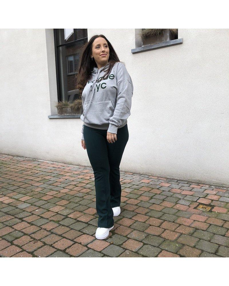 Sweater grijs met tekst