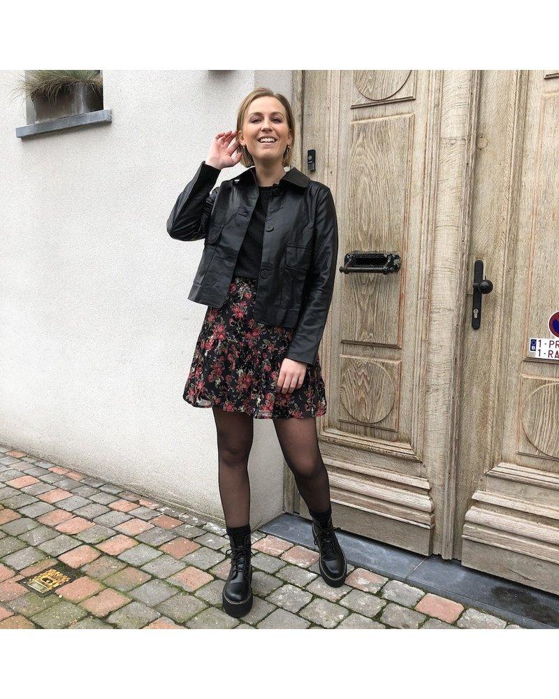 Leatherlook jacket black