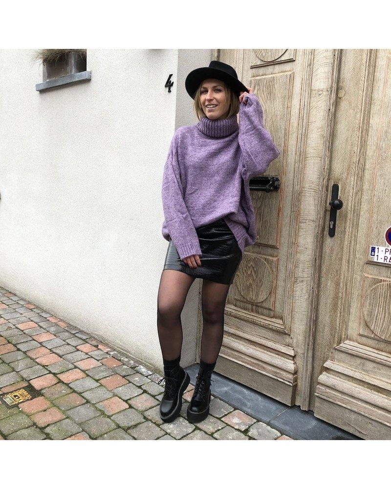 Croco leatherlook skirt
