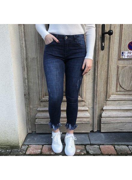 Jeans met detail aan enkel
