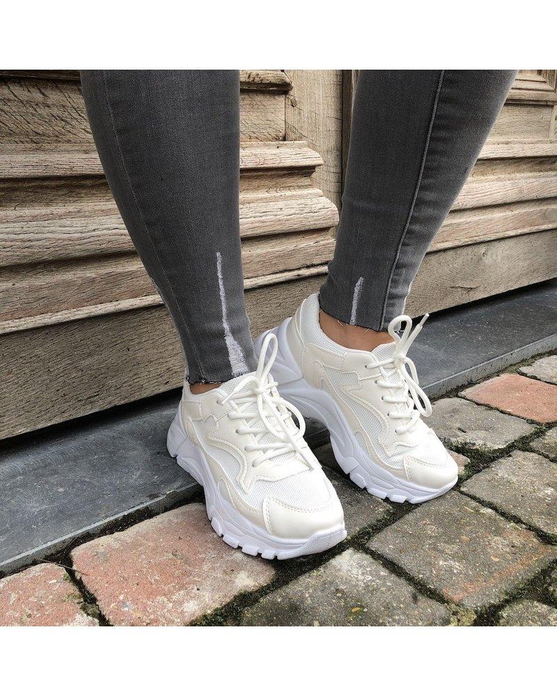 Lichtgrijze jeans