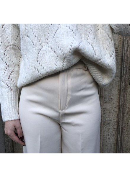 Trousers wide beige