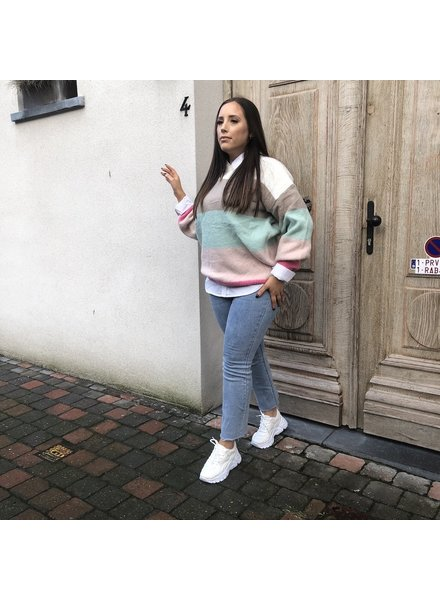 Gestreepte sweater pastel TU