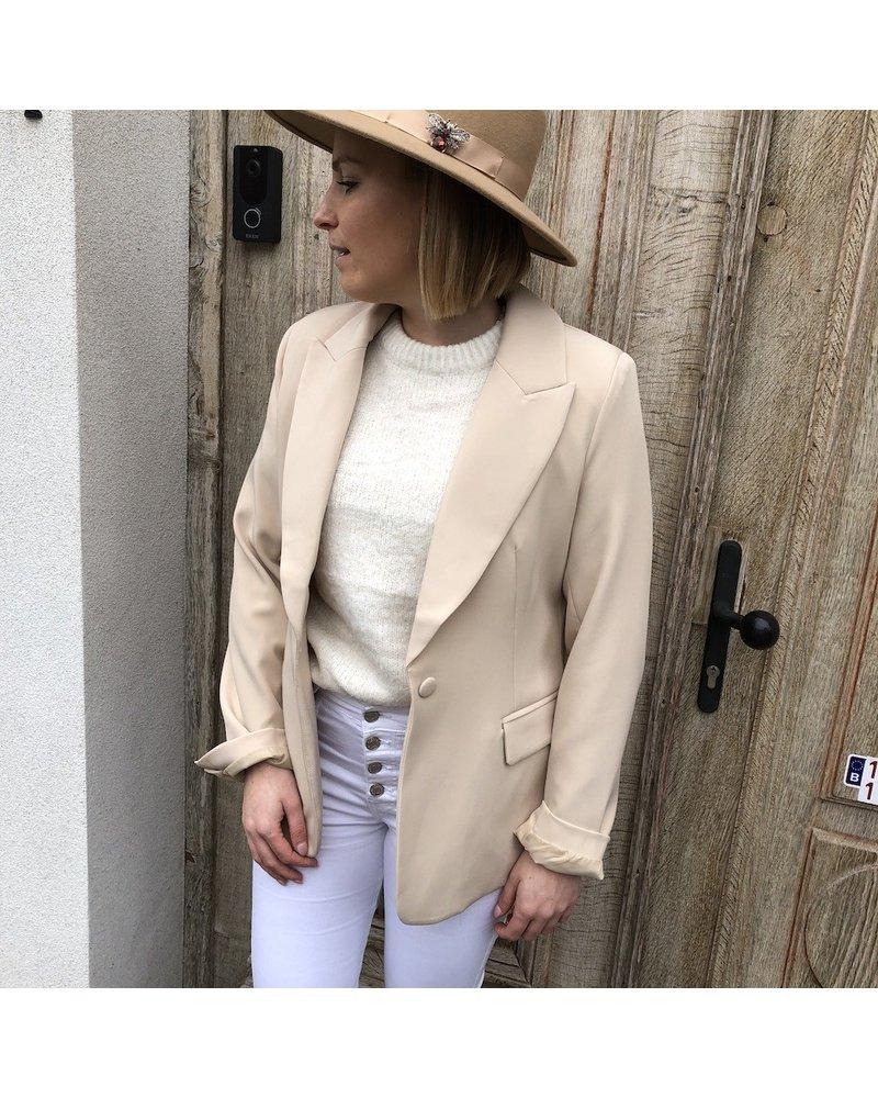 Classic beige blazer