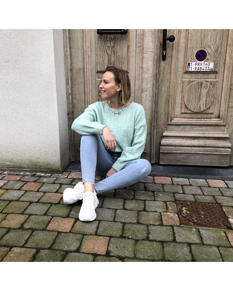 Pastelgroene jumper