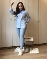 Classic blue blouse