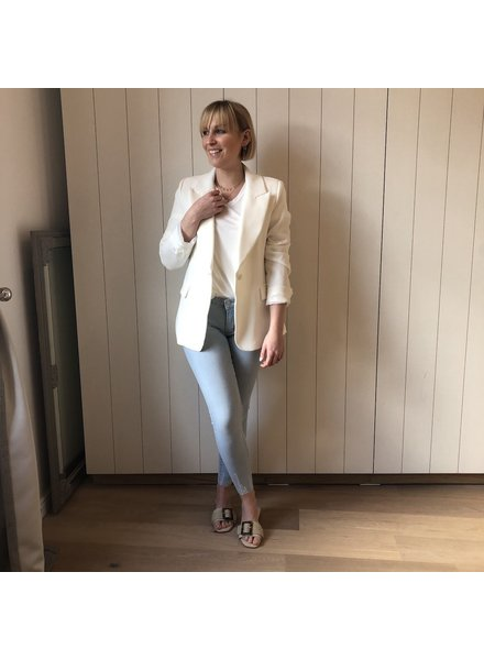 Classic white blazer