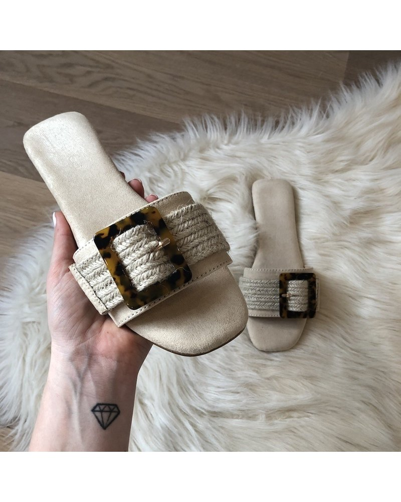Slippers beige