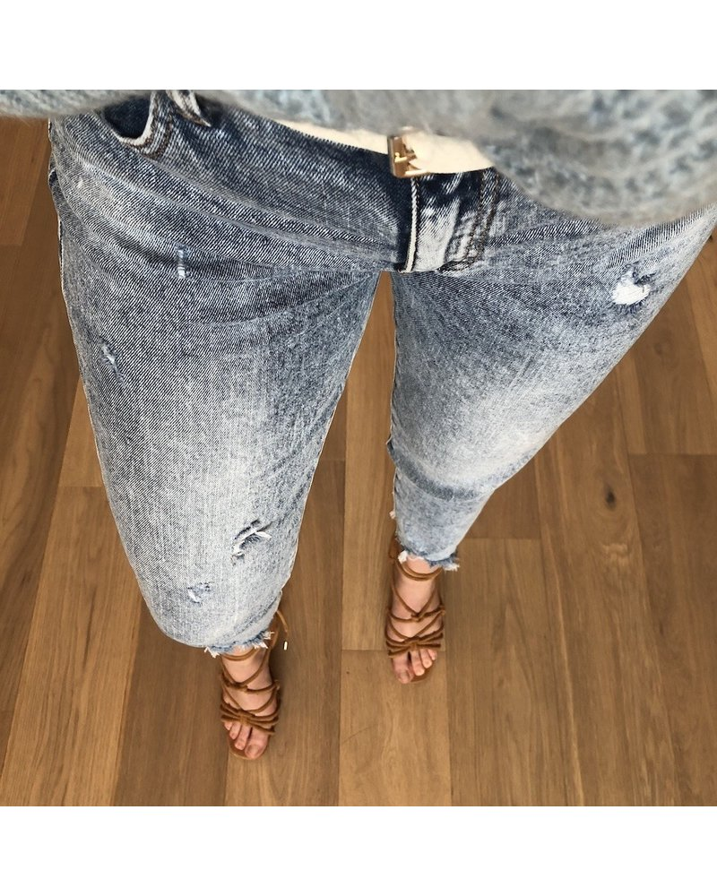 Relaxed jeans washed