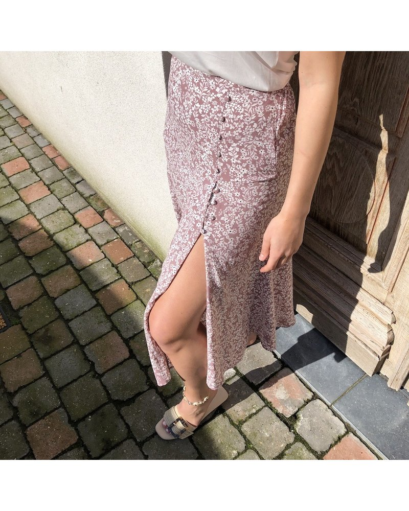 Skirt pink flowered