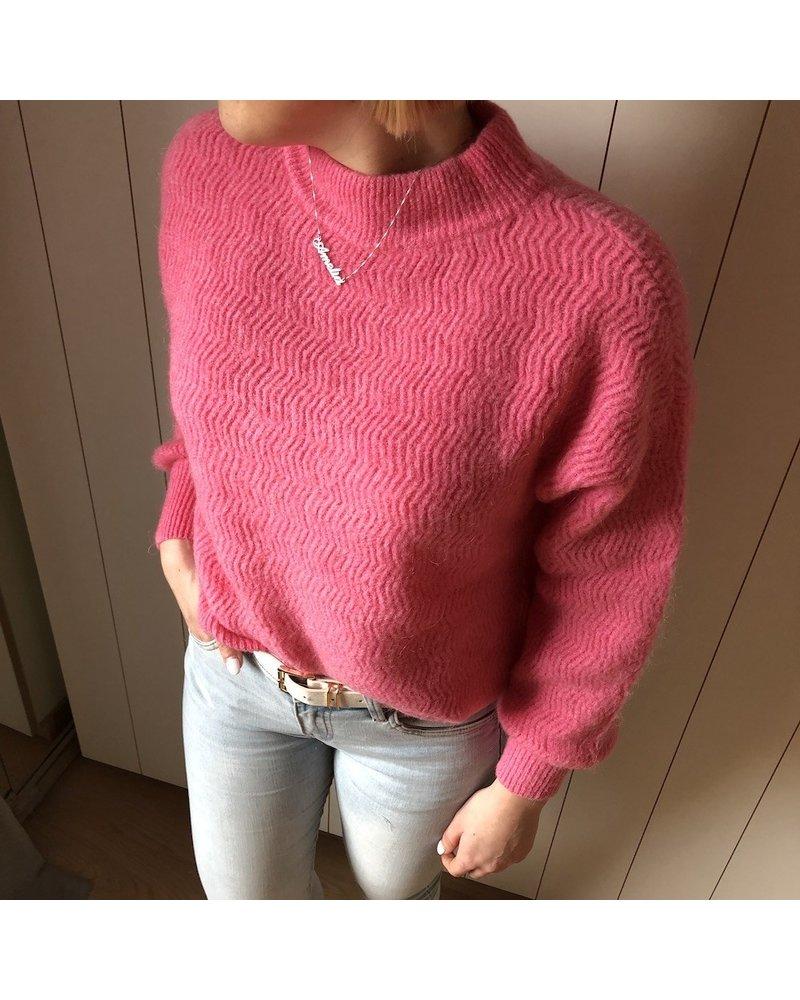 detail knit pink