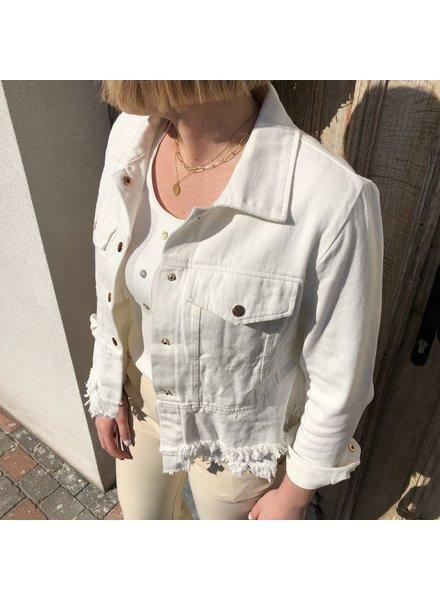 Jeansjas wit