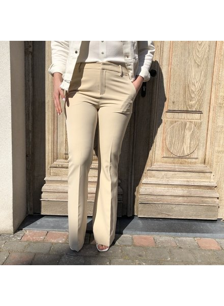 Flared trousers cream