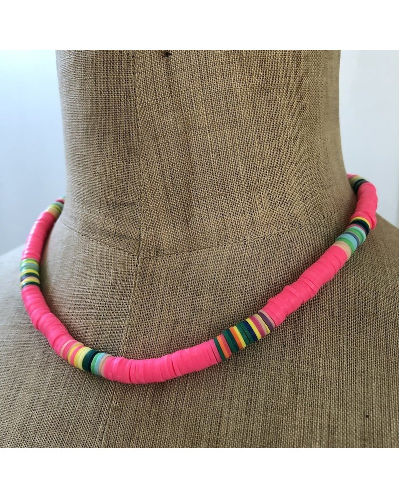 Summer necklace flashy pink