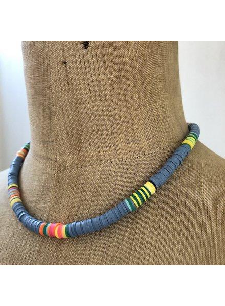 Summer necklace soft blue